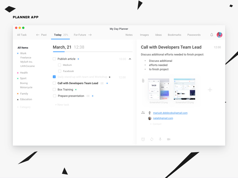 workday planner app by roman kryzhanovskyi dribbble dribbble