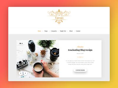 Fairous website logo blog minimal elegent web ui design