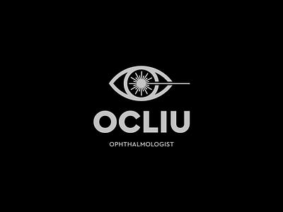 Ocliu logo design symbol eyedoctor eye therapy laser doctor ophthalmologist ophthalmology black graphic icon cursordesignstudio graphicdesign typography vector illustration logo design cursordesign