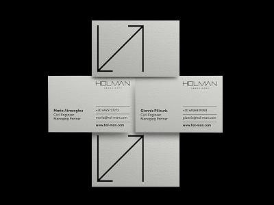 HOLMAN associates logodesign management branding businesscards identity typography design brand cursordesignstudio graphicdesign cursordesign logo logotype architecture construction