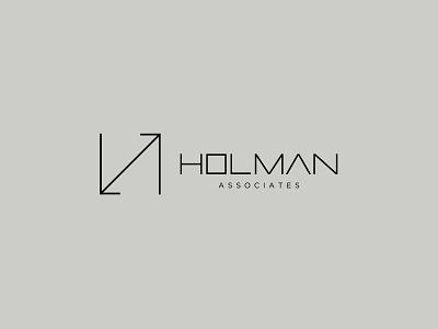 HOLMAN associates logodesign logotype branding management identity graphic brand icon cursordesignstudio typography graphicdesign logo design cursordesign architecture