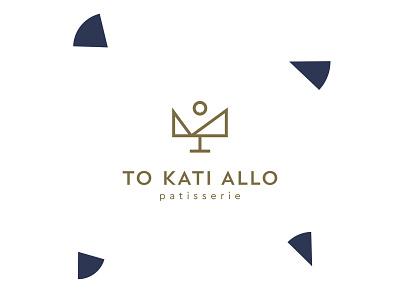 Patisserie To Kati Allo symbol geometric cake pastry patisserie pantone branding graphic brand icon cursordesignstudio graphicdesign logo design cursordesign