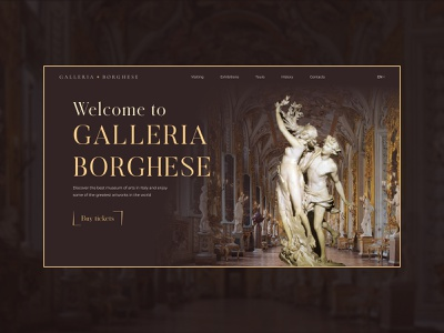 Museum concept baroque museum redesign concept website design website webdesign ui