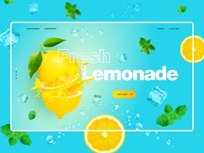 Lemonade concept concept ui webdesign website design website figma photoshop photomanipulation minimal dailydesign creativity color lemonade