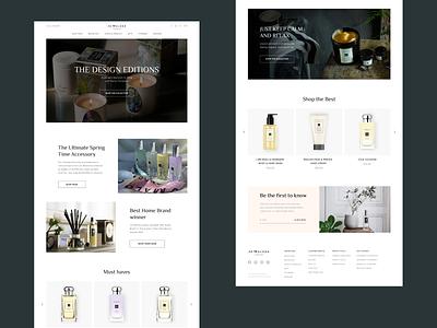 Jo Malone   E-commerce redesign cosmetic e-commerce online store perfume minimal figma dailydesign website design website webdesign ui concept
