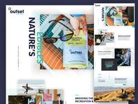 Outset Edibles Landing Page