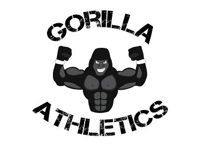 Gorilla Athletics fitness logo design logo design branding art logo adobe illustrator illustration