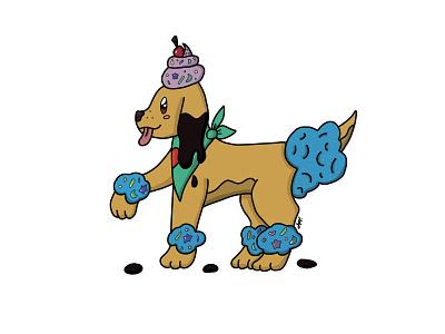 Pupcake desert puns pupcake cake puppy design digital illustration digital painting adobe photoshop illustration art