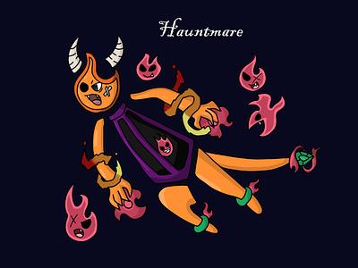 Hauntmare digital artist flames devil monster design digital illustration digital painting adobe photoshop illustration art