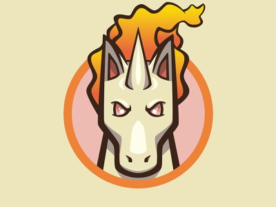 078 Rapidash kanto patch pokémon collection series pokédex illustration icon badge mascot