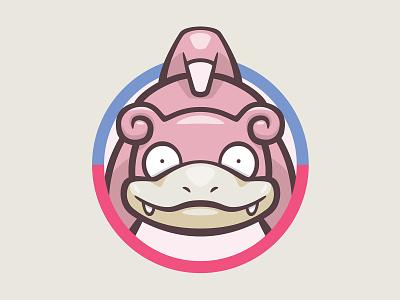079 Slowpoke kanto patch pokémon collection series pokédex illustration icon badge mascot