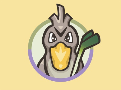 083 Farfetch'd patch kanto pokémon collection series pokédex illustration icon badge mascot