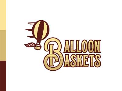 Balloon Baskets balloon basket hot air balloon vintage subscription box packaging logo daily logo challenge