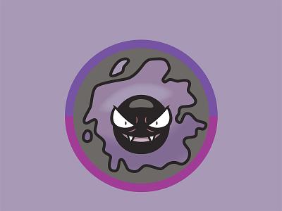 092 Gastly kanto patch pokémon collection series pokédex illustration icon badge mascot