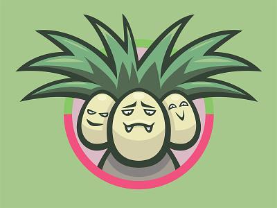 103 Exeggcutor kanto patch pokémon collection series pokédex illustration icon badge mascot