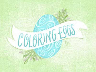 Easter Eggs i remember whensday spring illustration lettering easter egg