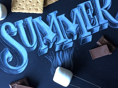 Summer marshmallows summer lettering illustration i remember whensday