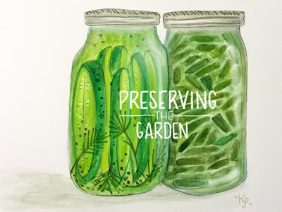 Canning paint illustration i remember whensday garden canning watercolor hand lettering