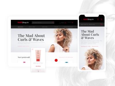 HairShop Webshop
