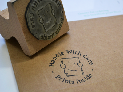 Handle With Care Stamp stamp print rubber stamp ink prints hand with care identity icon