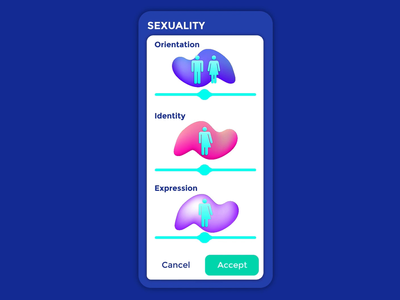 Sliders for Sexuality Selection health app mobile ui gooey fluidity illustrator sliders invision design