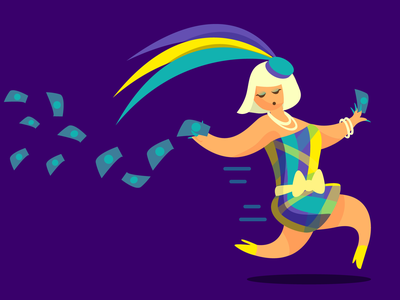 Yassss Queen hustle money laganja estranja drag race rupaul drag vector illustration