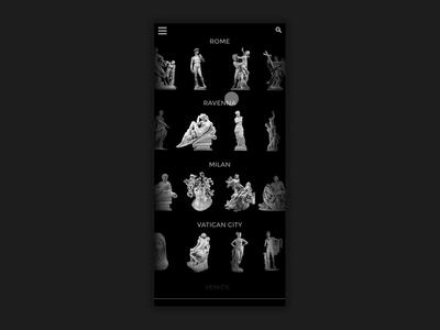 Tour Italian Sculpture Black UI
