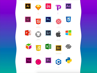 Free Floating Icons! free invisionstudio xd animation 2d icons