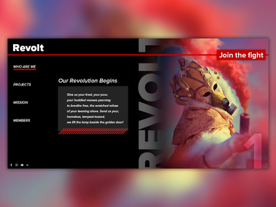 Masquerade Revolution website animation ui ux design after effects motion design