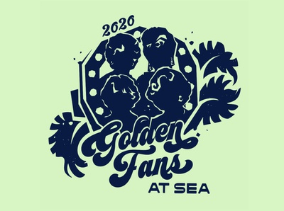 Golden Fans Illustration and Logo Work
