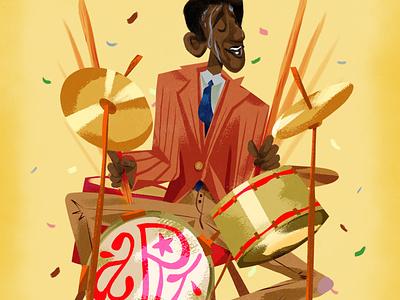 Art Blakey portrait freelance illustrator typogaphy characterdesign illustration