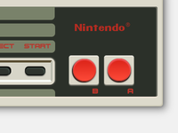 Pure CSS NES Controller