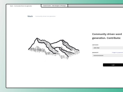 Wack - The contributor approach to random text generators. design typography ux website minimal flat web illustration ui webdesign