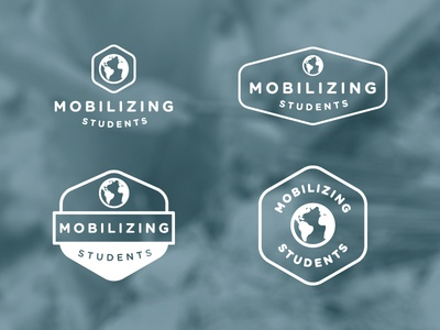Mission Logo logo globe brand hexagon mission