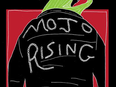Mojo Rising screenprint poster show mojo rising lizard pujol sucks