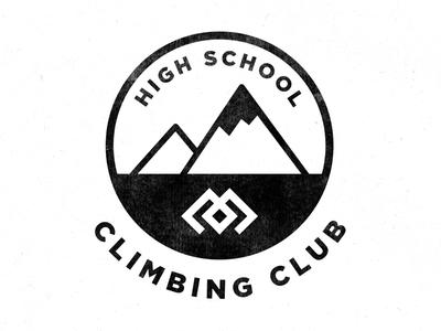 Climbing Club high school climb club logo