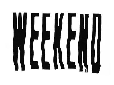 Type Treatment fw7 party weekend type lettering scanned