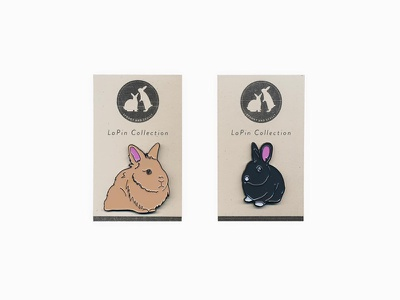 LaPin Collection risograph button pin lapel pin scully spooky bunny rabbit bunnies