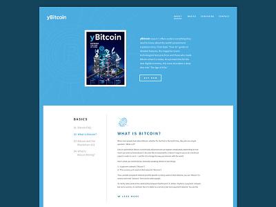 yBitcoin Concept vector ui ux web bitcoin