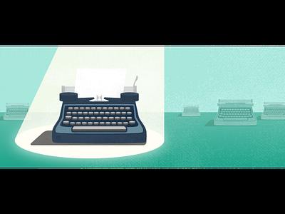 Get Noticed. Write With Us. write vector illustration vintage art typewriter illustrator