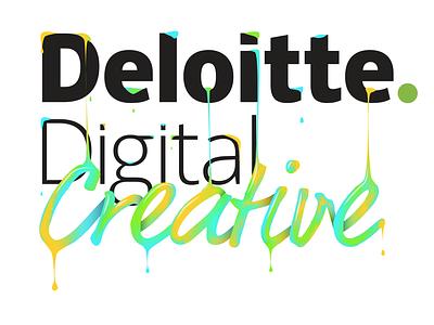 Deloitte Digital deloitte drips paint vector illustration