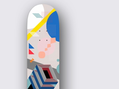 Custom Skateboard vector illustration abstract skateboard skate