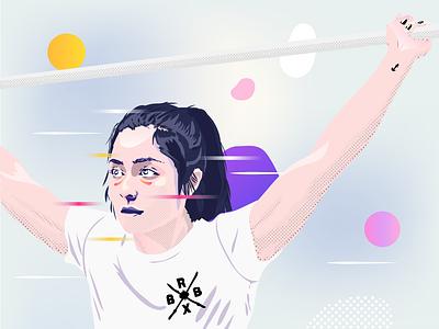Sports Illustration crossfit sport illustration