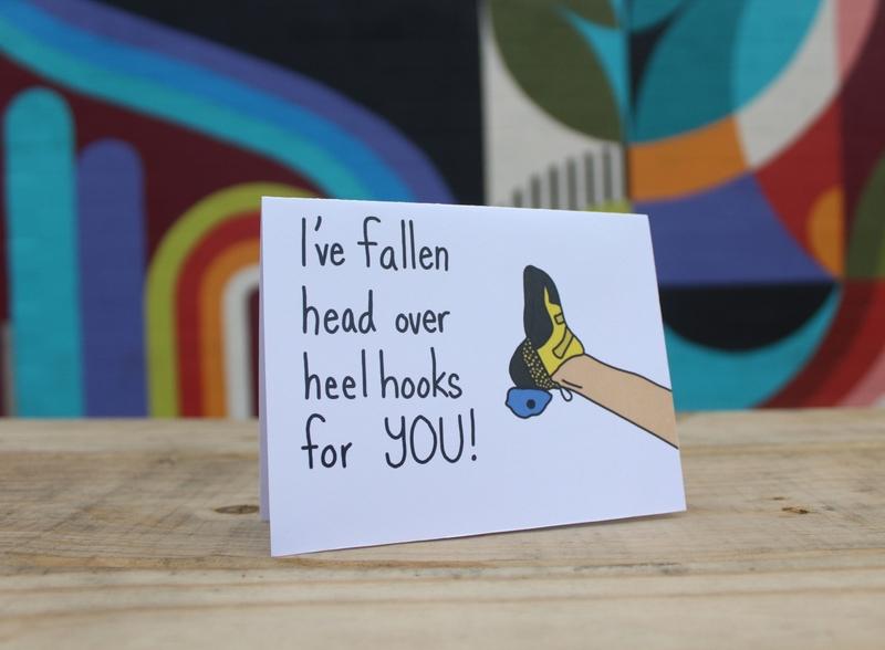 Climb More Bmore Cards illustration cards greeting cards punny pun climber climbing climb