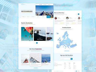 cloudEsoft travelLanding template design graphcs web design uidesign travel