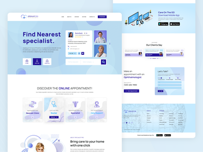 Doctor Directory Listing Website Design doctor app clean ux ui web typography website specialist doctors doctor find doctor appointment directory doctor design