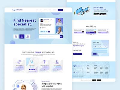 Doctor Directory Listing Website Design doctor app clean ux ui web typography website specialist doctors doctor find doctor appointment directory doctor design