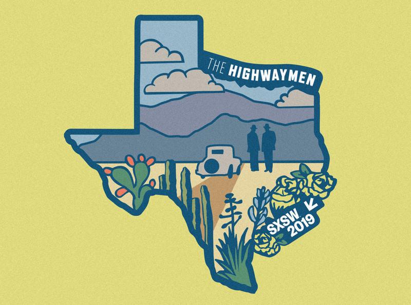 Netflix: The Highwaymen at SXSW custom patch