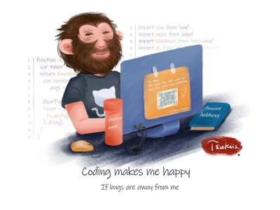 Coding maks me happy