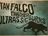Tav Falco / Panther Burns showprint
